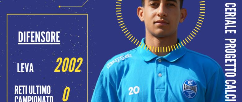 """Morad Naoui, classe 2002, sarà il nostro difensore """"under"""""""